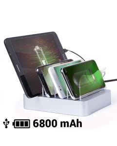 Cargador USB para Cuatro Dispositivos Móviles 6800 mAh 145769 0