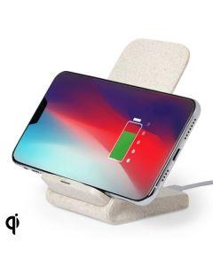 Cargador Inalámbrico para Smartphones Qi 146537 Caña de trigo Abs 0