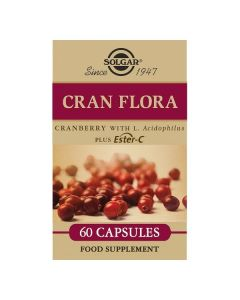 Cran Flora (Arándano Rojo con Probióticos y Ester-C Solgar (60 Cápsulas) 0