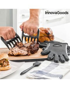 Set de Garras para Carne con Guantes y Pincel InnovaGoods