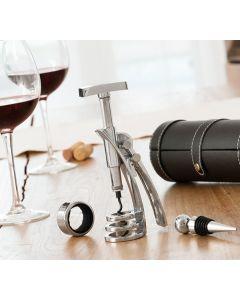 Set de Accesorios para Vino con Sacacorchos Screwpull InnovaGoods (4 Piezas)