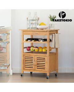 Carro de Cocina de Bambú TakeTokio