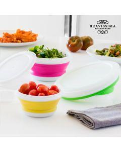 Fiambreras Plegables Bravissima Kitchen (3 piezas)