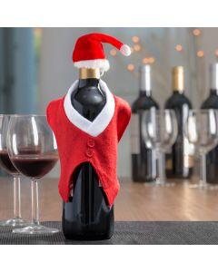 Gorro y Chaleco de Papá Noel para Botellas Christmas Planet
