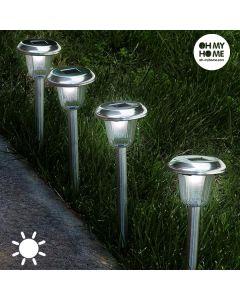Lámpara Solar Circular Antorcha Oh My Home (Pack de 4)