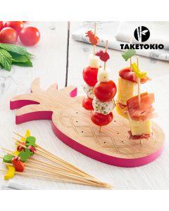 Set de Bambú para Tapas Piña Take Tokio (16 Piezas)