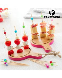 Set de Bambú para Tapas Mini Tablas TakeTokio (16 Piezas)