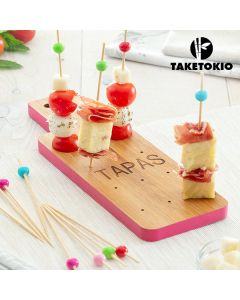 Set de Bambú para Tapas Tabla TakeTokio (16 Piezas)