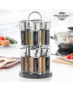 Estante Especiero con 12 Especias Bravissima Kitchen 0