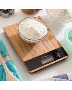 Báscula Digital de Cocina de Bambú 5 kg 0