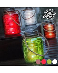 Tarro de Vidrio Decorativo con LED Grange Vintage Coconut 0