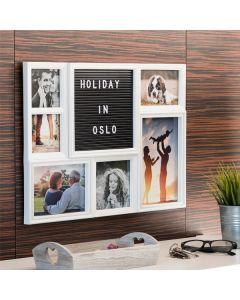 Portafotos con Panel para Letras y Números (6 Fotos)