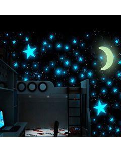 Luna y Estrellas Fluorescentes Universe (15 Piezas) 0