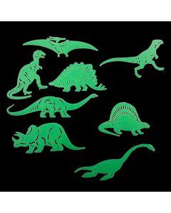 Dinosaurios Fluorescentes Jurassic (8 Piezas)