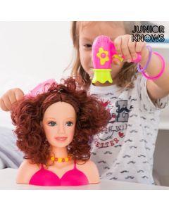 Muñeca para Peinar con Accesorios Junior Knows