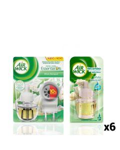 Pack Ambientador Eléctrico + 6 Recambios Air Wick White Bouquet