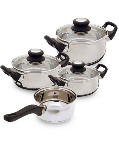 Batería de Cocina de Acero Inoxidable Bravissima Kitchen (7 piezas) 0