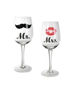 Copas de Vino Mr & Mrs Romantic Items