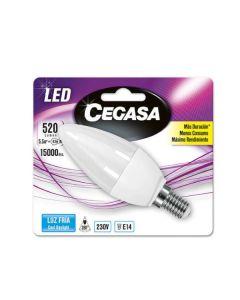 Bombilla LED Vela Cegasa E14 5,5 W A+ 0
