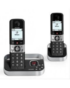 Teléfono Inalámbrico Alcatel Versatis F890 DUO DECT Negro/Plateado 0